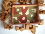 word painted inside puzzle box