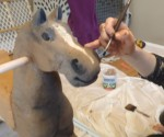 painting a rocking horse