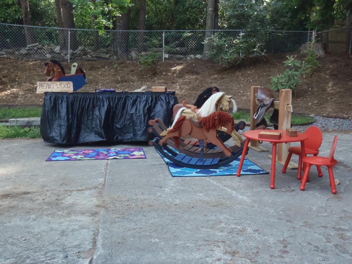 rocking horses in craft display