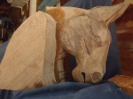 walnut horse head