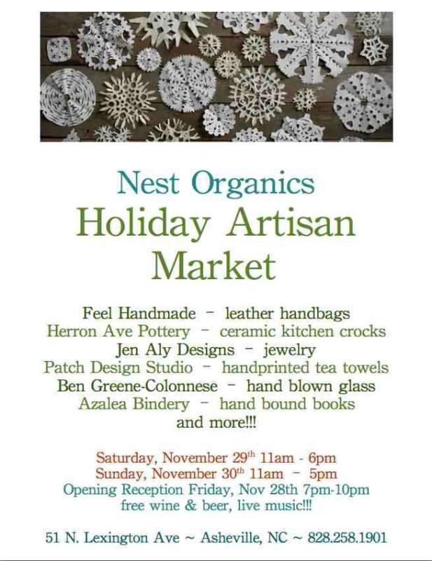 Details about nest organic's artisan market 2014