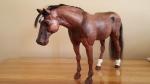 carved quarter horse bay white sox left side