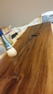 shellac the base for cedar horse head wall hanging
