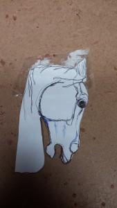 drawing for cedar horse head carving