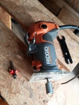 image of ridgid trim router with new vermont american bit in place