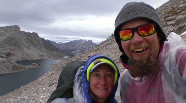 hiking the continental divide trail in the Wind River Range. I think this is Trinity pass?